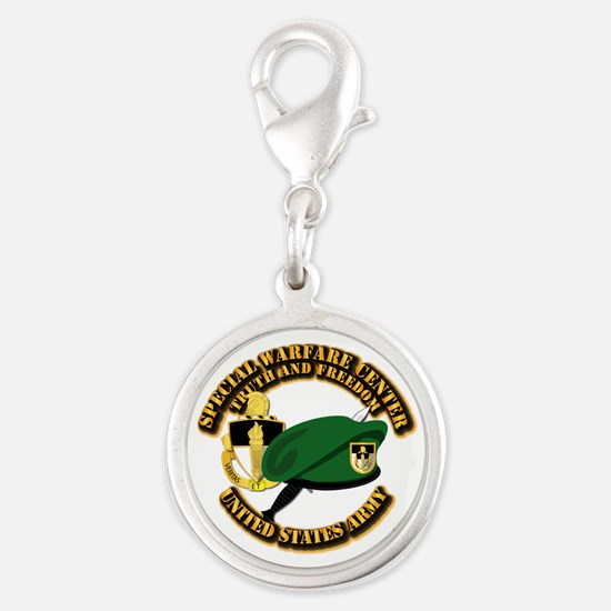 Swc - Beret Dagger Dui Silver Round Charm Charms