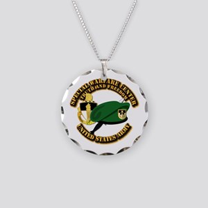 Swc - Beret Dagger Dui Necklace Circle Charm
