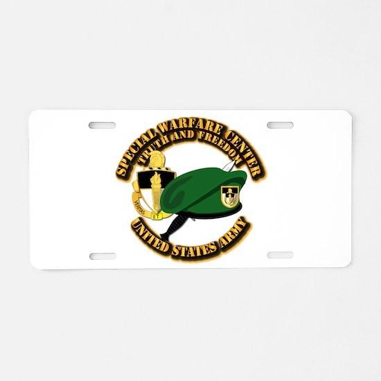 Swc - Beret Dagger Dui Aluminum License Plate
