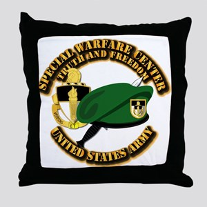 SWC - Beret Dagger DUI Throw Pillow