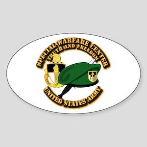 Swc - Beret Dagger Dui Sticker (oval)