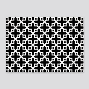 Cross Section Pattern Black and White 5'x7'Area Ru
