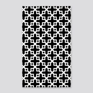 Cross Section Pattern Black and White 3'x5' Area R