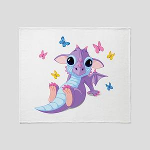 Baby Dragon - Throw Blanket