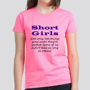 Short Girls Purple Ribbon Women's T-Shirt
