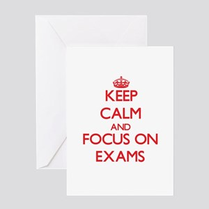 Final exam greeting cards cafepress keep calm and focus on exams greeting cards m4hsunfo