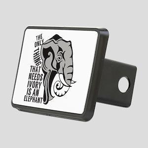 Save Elephants Rectangular Hitch Cover