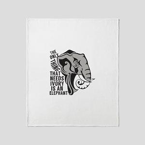 Save Elephants Throw Blanket