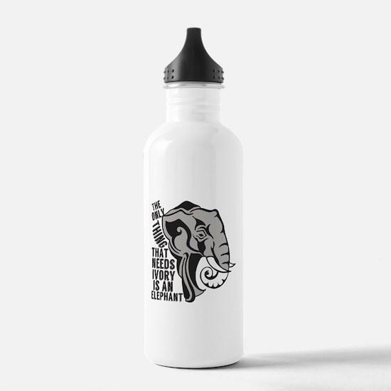 Save Elephants Water Bottle