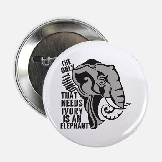 "Save Elephants 2.25"" Button"