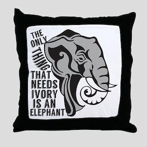Elephant Animal Activist Throw Pillow