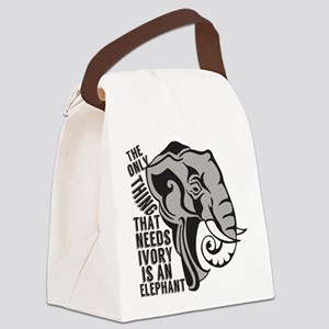 Save Elephants Canvas Lunch Bag