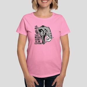 2cc3e669cfcc2b Save The Elephants Women s T-Shirts - CafePress