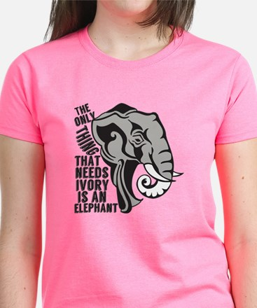 Save Elephants Women's Dark T-Shirt