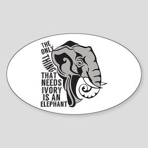 Save Elephants Sticker (Oval)