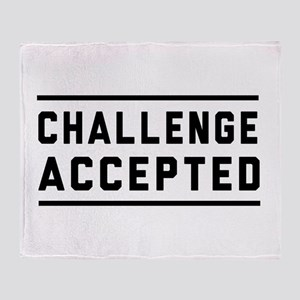 Challenge Accepted Throw Blanket