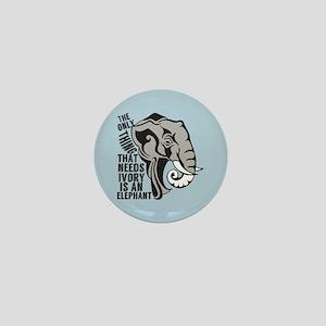 Save Elephants Mini Button