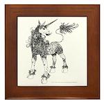 Dappled Unicorn Framed Tile