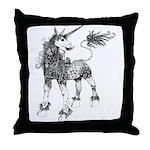 Dappled Unicorn Throw Pillow