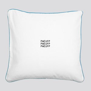 Steno Pweupf..pillow Court Square Canvas Pillow