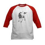 Dappled Unicorn Kids Baseball Jersey
