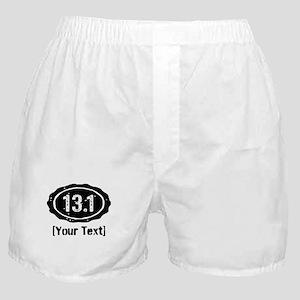 13.1 Personalized Half Marathon Boxer Shorts