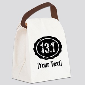 13.1 Personalized Half Marathon Canvas Lunch Bag
