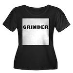 GRINDER Women's Plus Size Scoop Neck Dark T-Shirt