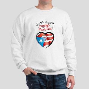 Desde la distancia, contigo Puerto Rico Sweatshirt