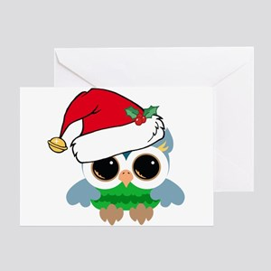 Christmas Owl Greeting Card