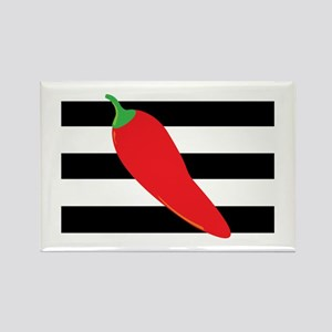 Chili Pepper on Stripes Magnets