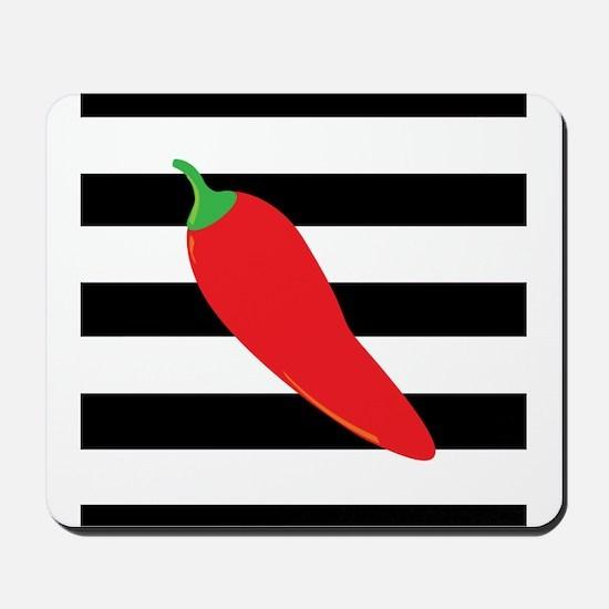 Chili Pepper on Stripes Mousepad