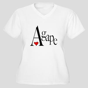 Agape Women's Plus Size V-Neck T-Shirt
