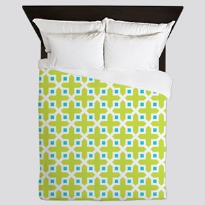 Cross Section Pattern Turquoise and Li Queen Duvet