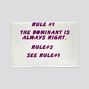 THE RULES! Rectangle Magnet