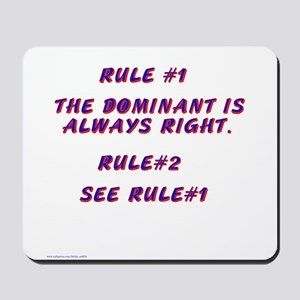 THE RULES! Mousepad