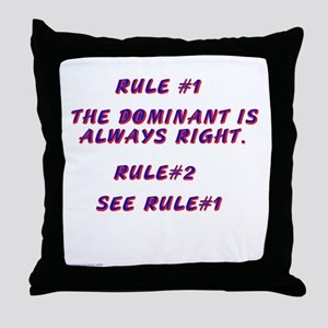 THE RULES! Throw Pillow