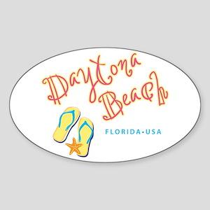 Daytona Beach Sticker (Oval)