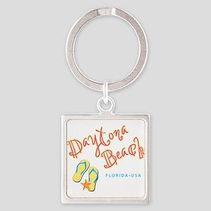 Daytona Beach Square Keychain