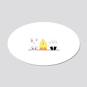 Easter Animal Border Wall Decal