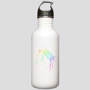 Soft Pastel Colored Horse Head Logo Water Bottle