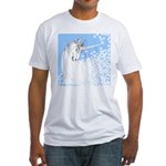 Blue Unicorn Dream Fitted T-Shirt
