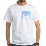 Blue Unicorn Dream White T-Shirt