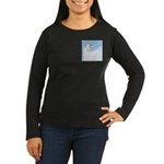 Blue Unicorn Dream Women's Long Sleeve Dark T-Shir