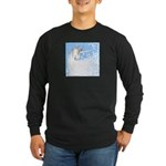 Blue Unicorn Dream Long Sleeve Dark T-Shirt