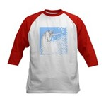 Blue Unicorn Dream Kids Baseball Jersey