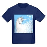 Blue Unicorn Dream Kids Dark T-Shirt
