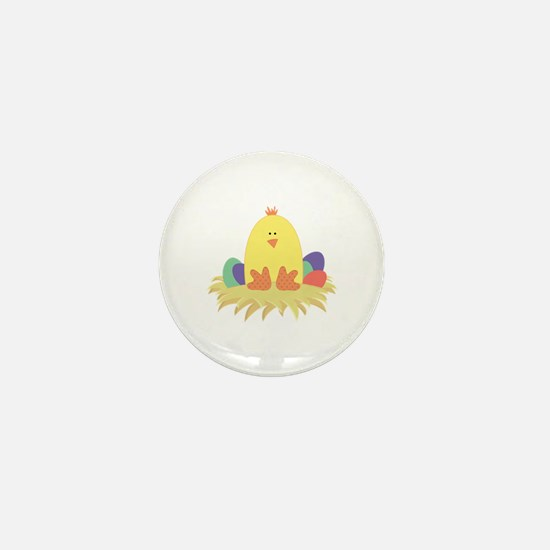 Easter Peep on Nest Mini Button