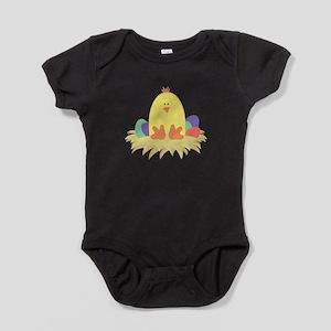 Easter Peep on Nest Baby Bodysuit