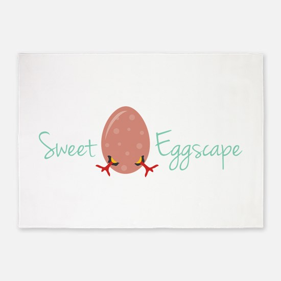 Sweet Eggscape 5'x7'Area Rug
